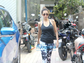 Malaika Arora snapped outside the gym