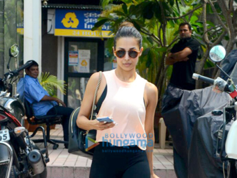 Malaika Arora spotted after a her gym session in Khar