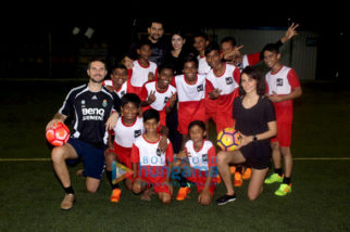 Mandana Karimi snapped with her football team