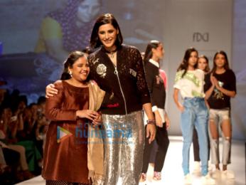 AIFW 2017: Nargis Fakhri and Milind Soman walks the ramp in New Delhi