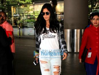 Salman Khan and Katrina Kaif arrive from in Mumbai from Greece