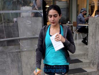 Sara Ali Khan and Konkona Sen Sharma snapped at the Kitchen Garden