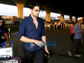 Sidharth Malhotra and Adah Sharma snapped at the airport