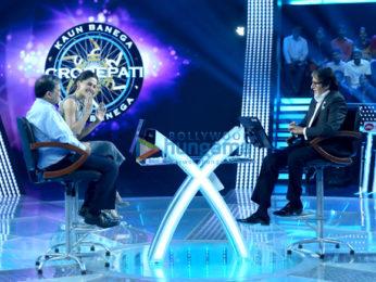 Taapsee Pannu and Dr Subroto Das on the sets of 'Kaun Banega Crorepati 9'