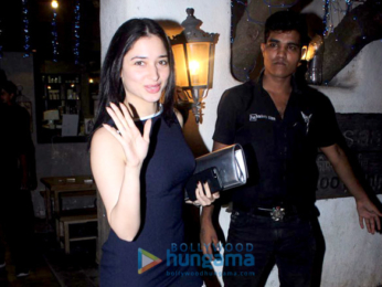 Tamannaah Bhatia snapped at Hakim's Aalim salon