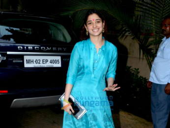 Tamannaah Bhatia spotted at a friend's place for Diwali pooja