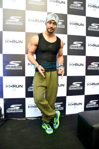 Tiger Shroff attends the launch of Sketchers
