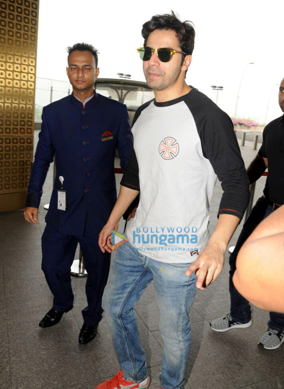 Varun Dhawan snapped at the airport while on his way to Delhi