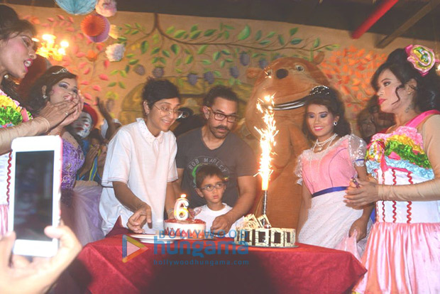 Aamir Khan and Kiran Rao celebrate Azad's sixth birthday a week before by taking him to a theme park!1