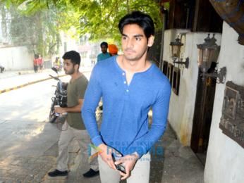 Ahan Shetty snapepd at Hakim Aalim's
