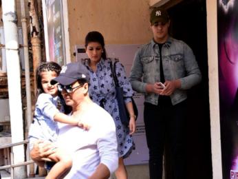 Akshay Kumar, Twinkle Khanna spotted with Nitara and Aarav after a movie