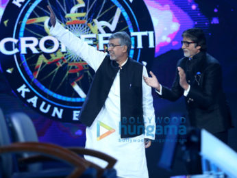 Amitabh Bachchan snapped on sets of the special episode of Kaun Banega Crorepati 9