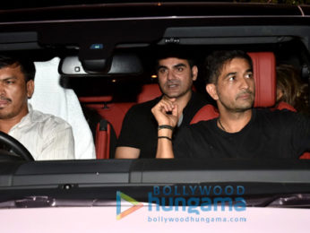 Amrita Arora snapped with Arbaaz Khan at Olive for dinner