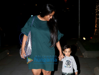Arpita Khan spotted with her son Ahil