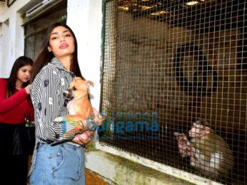 Athiya Shetty visits Bombay Society for the Prevention of Cruelty to Animals