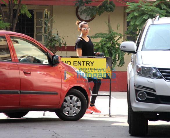 Bipasha Basu snapped near her gym in Bandra