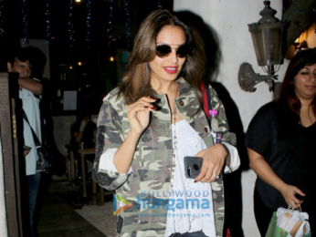 Bipasha Basu spotted outside a spa