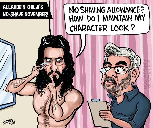 Bollywood Toons Allauddin Khilji's No-shave November look!