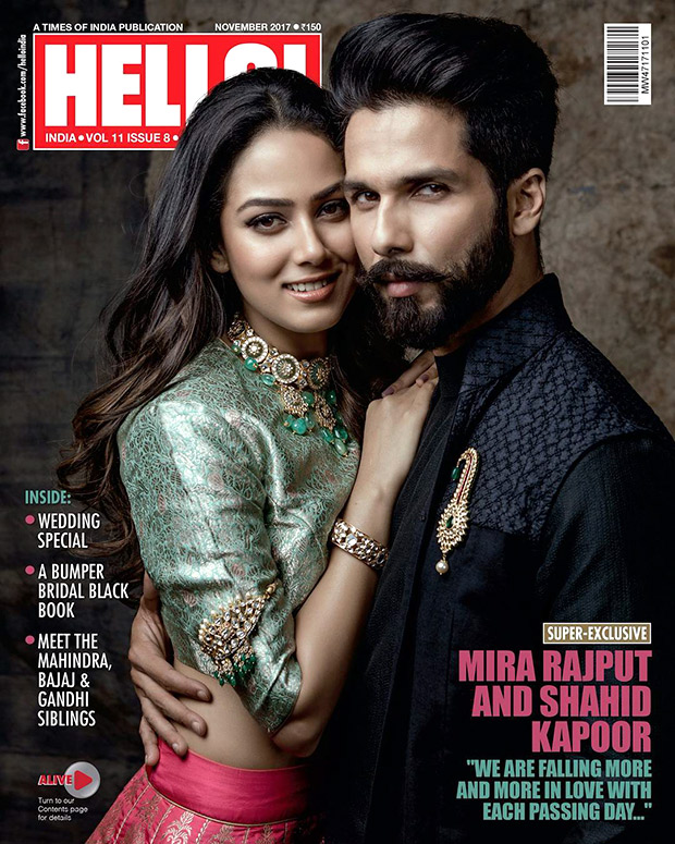 Check out Shahid Kapoor and Mira Rajput make a perfect pair on Hello cover