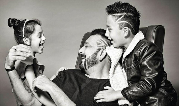 Cute! Sanjay Dutt shares his pictures with his kids on Children's Day (1)