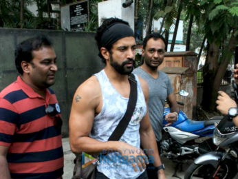 Farhan Akhtar snapped at the Otters Club