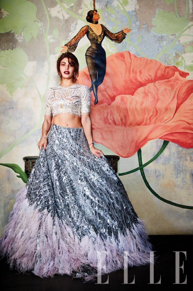 HOTNESS Jacqueline Fernandez is an absolute stunner on Elle magazine's wedding special!5