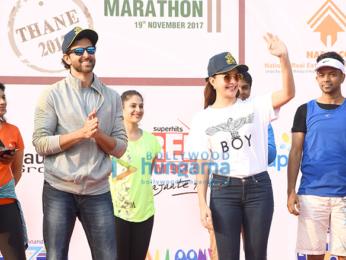 Hrithik Roshan and Jacqueline Fernandez at 'Thane Police Commissioner's Marathon'