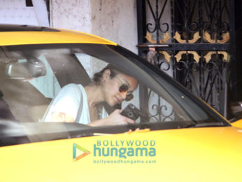 Ileana D'Cruz snapped outside her gym