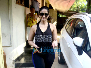 Ileana D'Cruz spotted at Matrix Office in Bandra