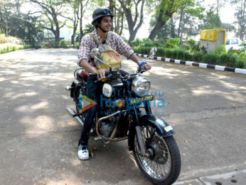 Ishaan Khattar snapped on bike in Goa