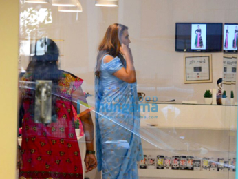 Iulia Vantur snapped trying outfit at Masaba Gupta's store