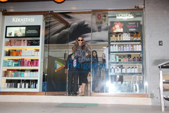 Iulia Vantur spotted outside a salon