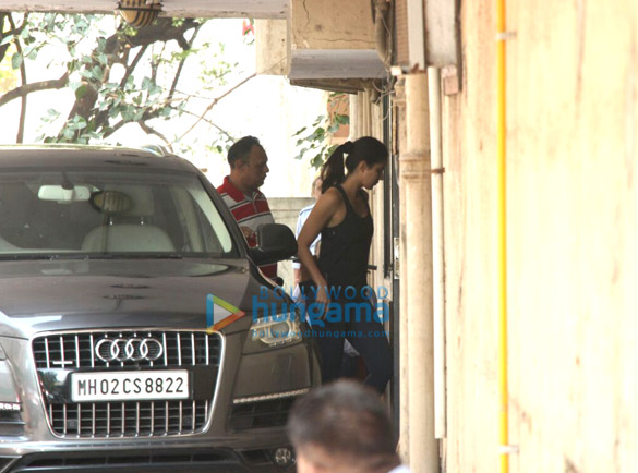 Katrina Kaif snapped at her gym in bandra