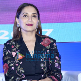 Madhuri Dixit snapped at an awards function in Juhu
