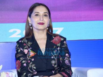 Madhuri Dixit snapped at an awards function in Juhu