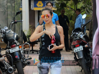 Malaika Arora and Jacqueline Fernandez snapped after their gym session