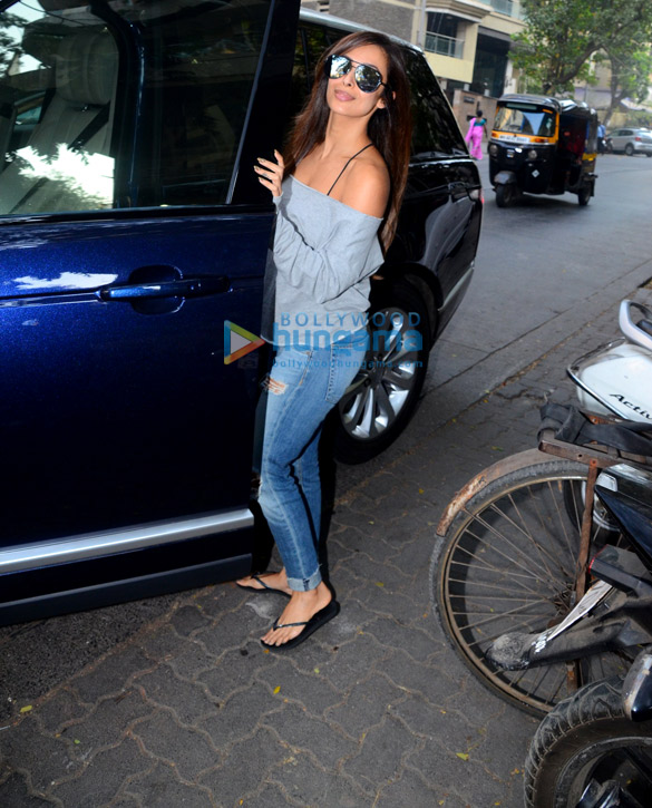 Malaika Arora snapped outside her salon