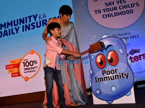Mandira Bedi snapped with her son at an event