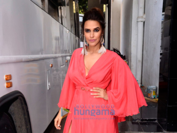 Neha Dhupia snapped shooting a promo for Vogue BFF