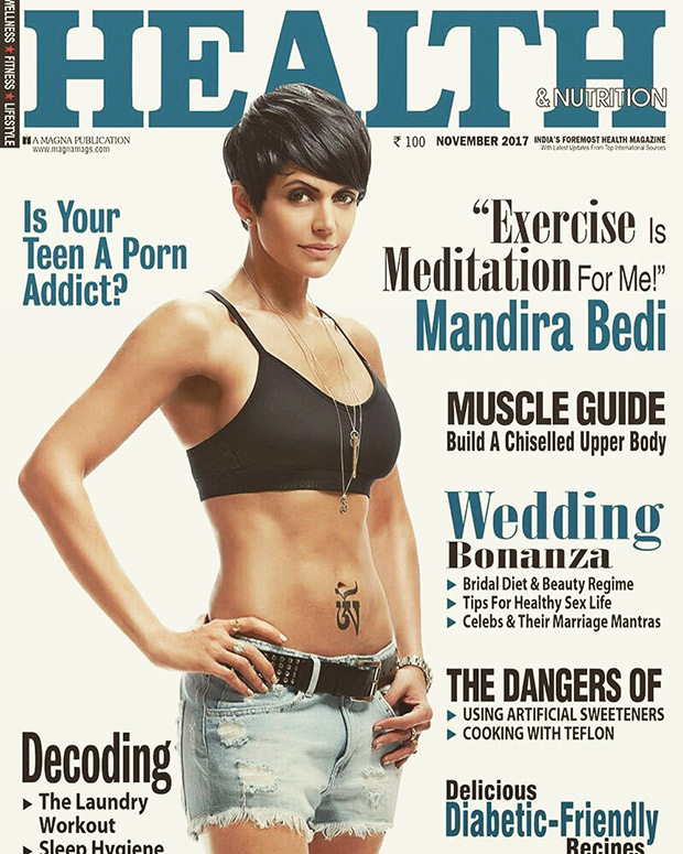 OMG! Mandira Bedi looks smoking hot on the cover of Health & Nutrition