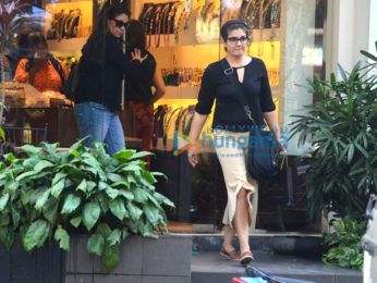 Raveena Tandon snapped at a jewellery store in Khar