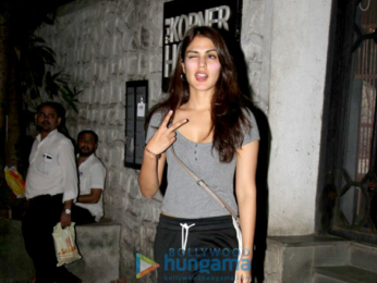 Rhea Chakraborty snapped at the Korner House