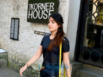 Rhea Chakraborty spotted at The Korner House