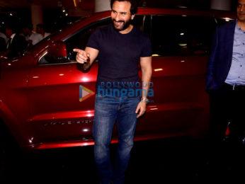 Saif Ali Khan arrives in his new jeep