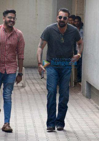 Sanjay Dutt snapped at the office of Vishesh Films