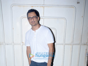 Sanjay Suri and others snapped at the special screening of 'Ajji'