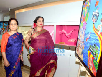 Shabana Azmi graces Sangeeta Babani's painting exhibition