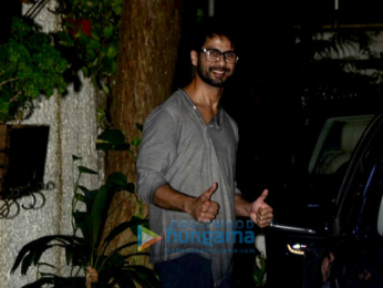 Shahid Kapoor snapped at Sunny Super Sound