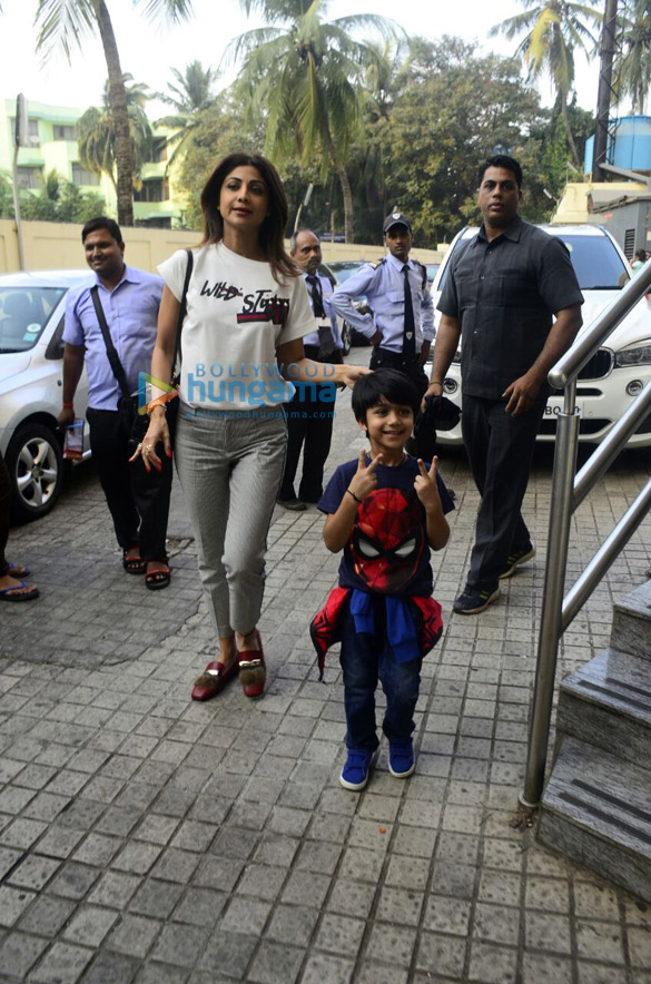 Shilpa Shetty spotted with son at PVR Juhu