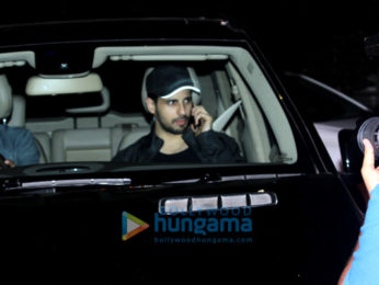 Sidharth Malhotra spotted at a dance class in Bandra